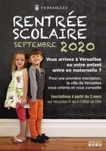 Inscription dans les écoles de Versailles pour 2020