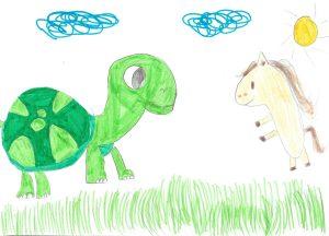 La tortue et le cheval